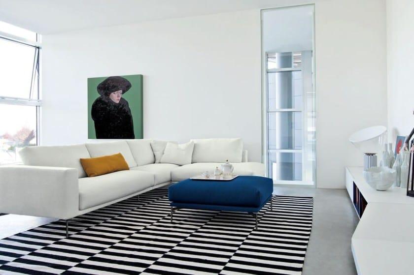 Corner upholstered fabric sofa HOLLYWOOD   Corner sofa by arflex