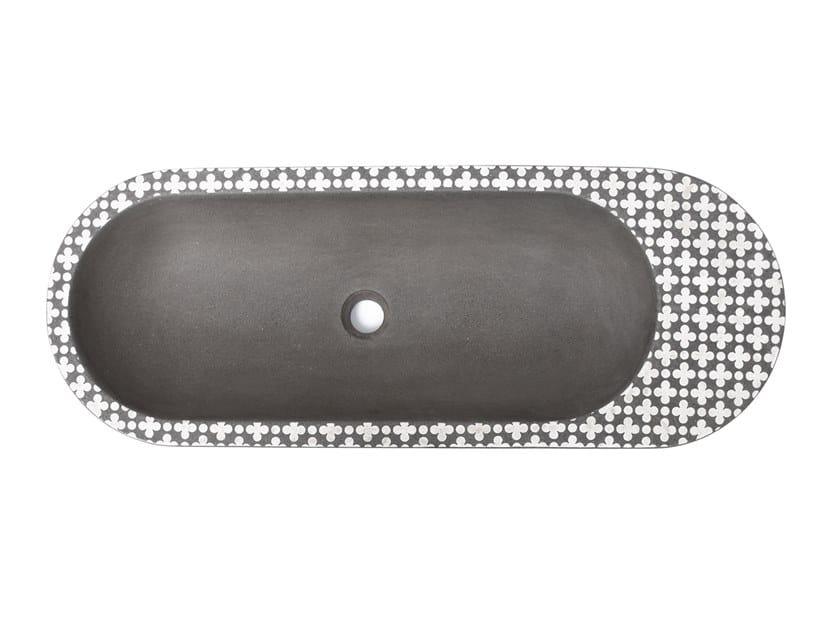 Vasque à poser ovale en ciment HOLYWATER by URBI et ORBI
