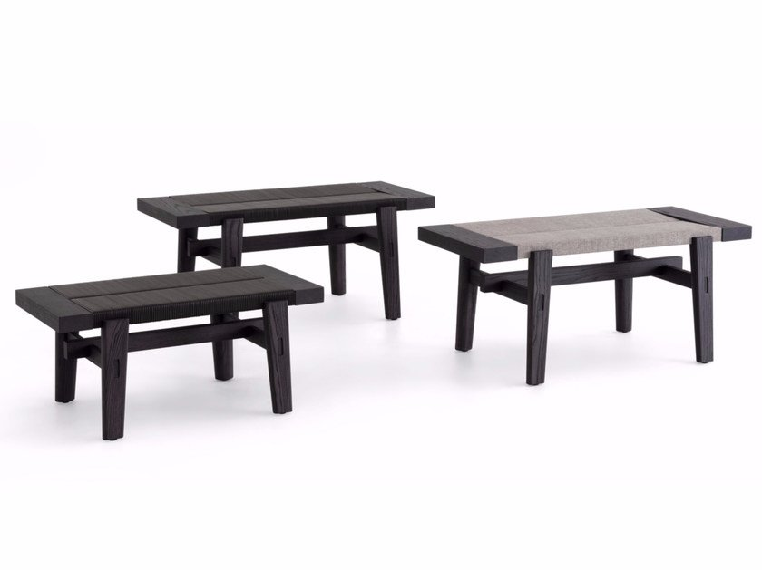 Contemporary style wooden bench HOME HOTEL   Elm bench by poliform