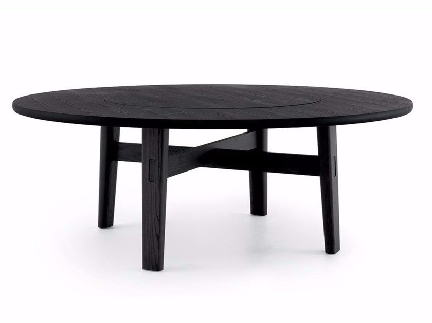 Round elm table HOME HOTEL | Elm table by poliform