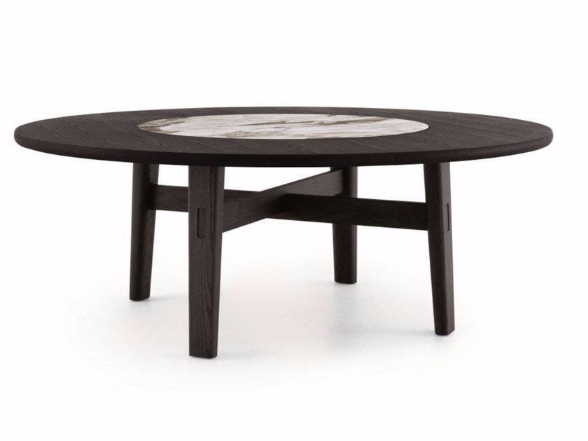 Round elm table HOME HOTEL   Round table by poliform