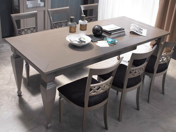 Lacquered solid wood table HOME STORIES | Lacquered table by Devina Nais