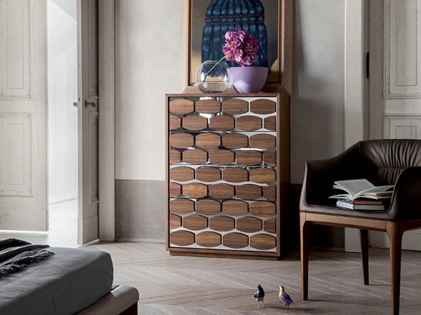 Wooden chest of drawers / dresser HONEY NIGHT | Chest of drawers by Tonin Casa