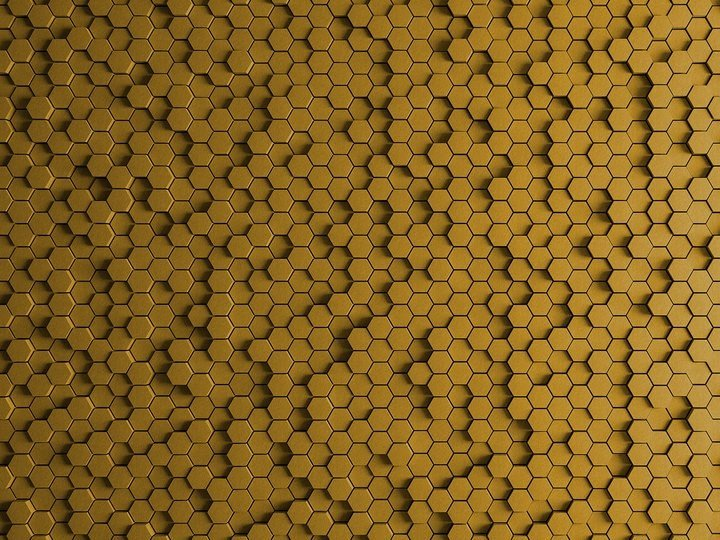 Digital printing wallpaper HONEYCOMB by Architects Paper