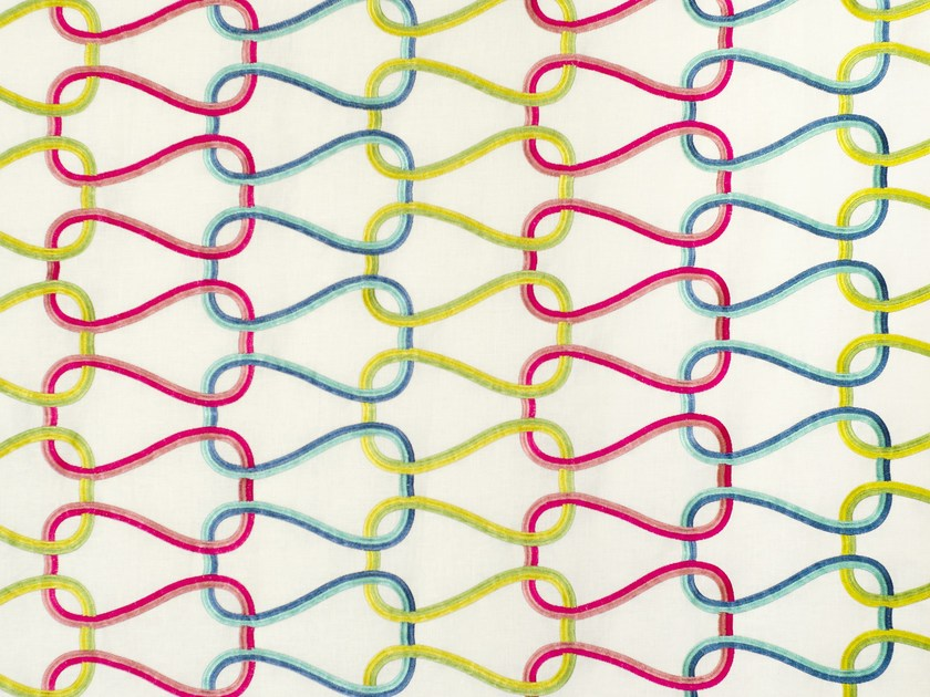 Handmade linen fabric HONEYMOON by Aldeco