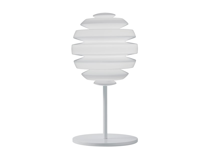 Lampada da tavolo in vetro opale HONEYMOON | Lampada da tavolo by KUNDALINI