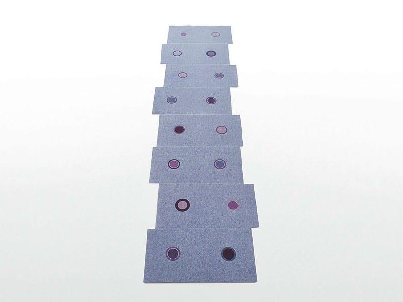Rectangular felt rug with geometric shapes HOOP | Rectangular rug by paola lenti