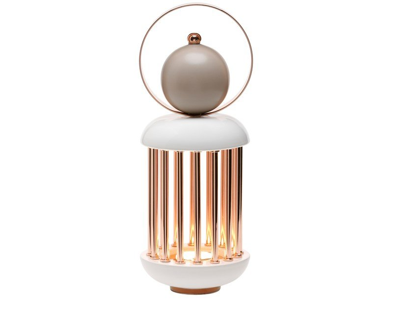 Ceramic and copper table lamp HOPE BIG LANTERN by Byfly
