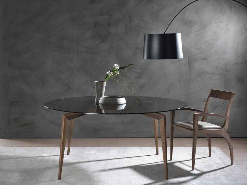 Round solid wood table HOPE | Round table by Pacini & Cappellini