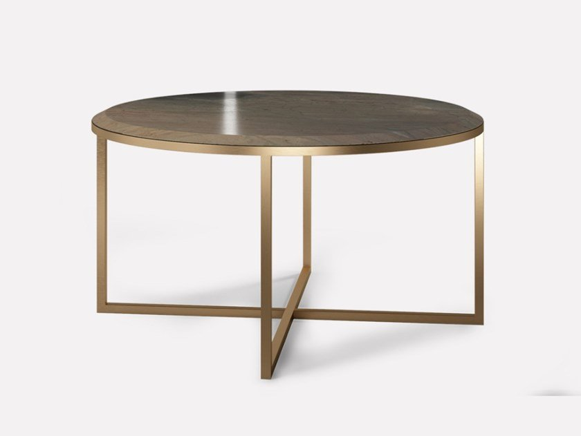 Round metal and marble coffee table HOPE ROYAL | Coffee table by MORADA