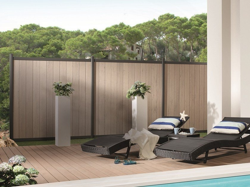 schermo divisorio da giardino in wpc horizen composite by