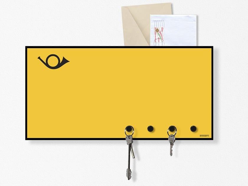 Lavagnetta magnetica con portalettere HORN by Designobject.it