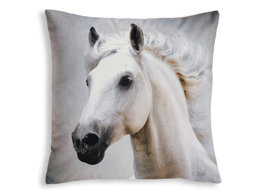 Square cushion HORSE by Koziel