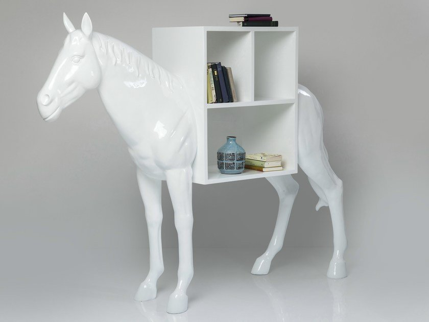 Resin bookcase HORSE | Bookcase by KARE-DESIGN