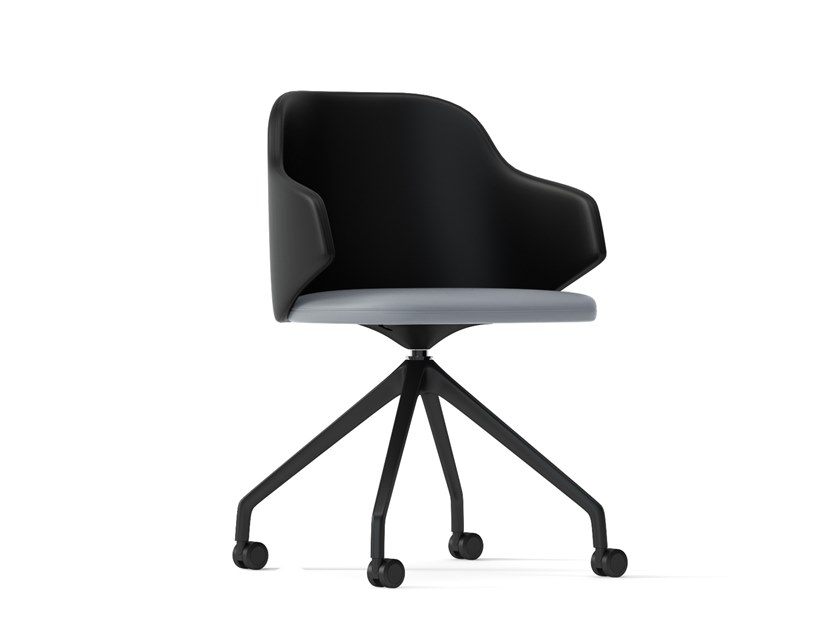 Trestle-based chair with casters HOST | Chair with casters by Arte & D