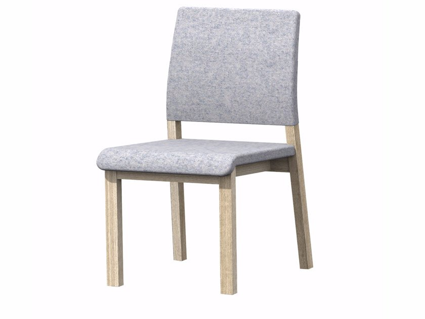 Upholstered fabric chair HOST HB by Z-Editions