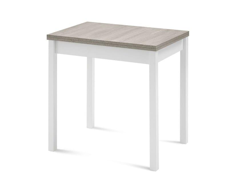 Extending rectangular wooden table HOT-M by DOMITALIA