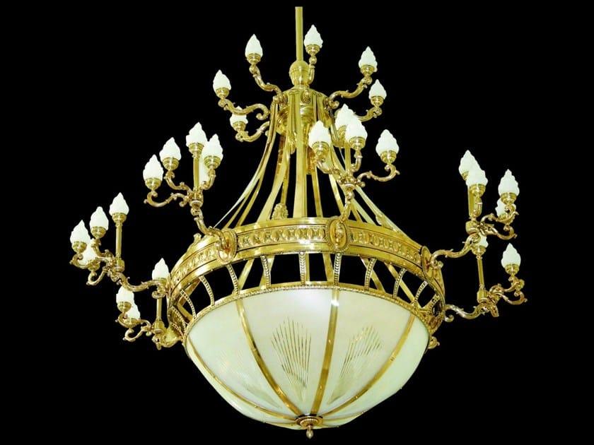 Lampada a sospensione a luce diretta fatta a mano in ottone HOTEL II | Lampada a sospensione by Patinas Lighting