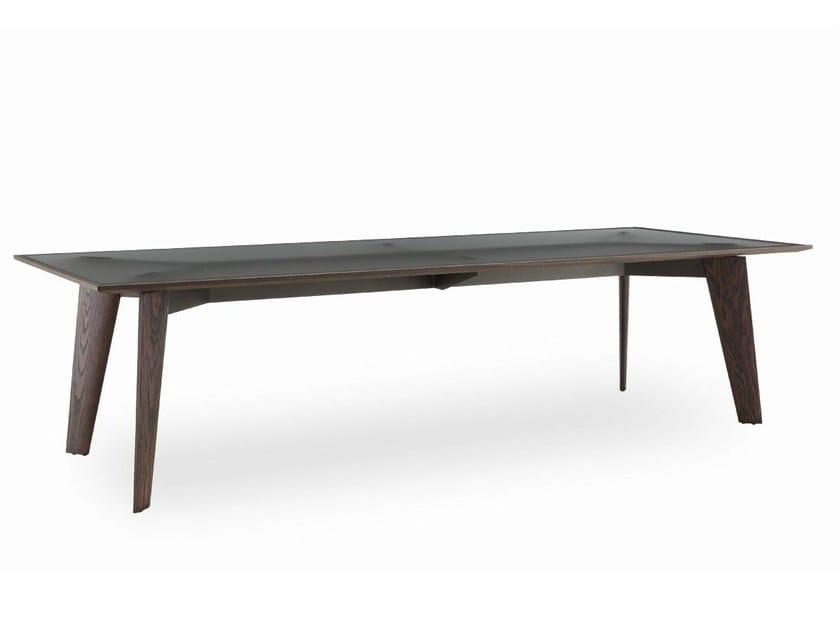 Rectangular glass table HOWARD | Glass table by poliform