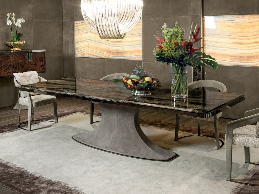 Rectangular Marble Table HUBERT By Longhi