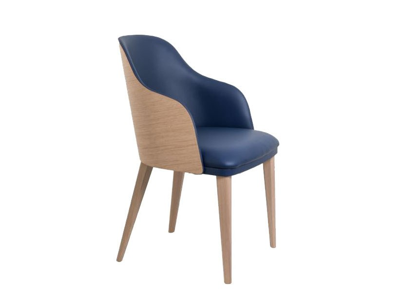 Leather chair with armrests HUDSON | Leather chair by Perrouin