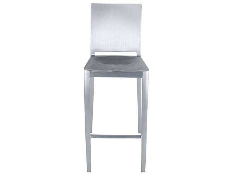 Sgabello alto da bar in alluminio hudson sgabello emeco