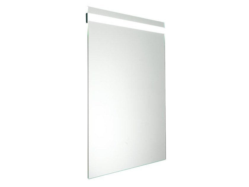 Wall-mounted mirror with integrated lighting HUG | Mirror by Ponte Giulio