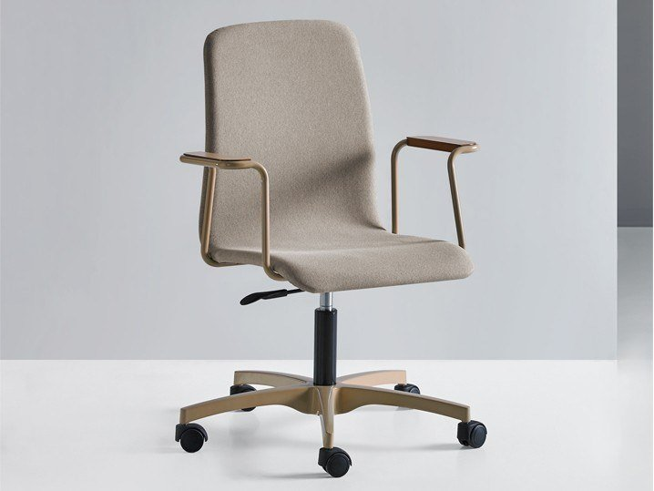 Swivel task chair with 5-Spoke base with castors HUG 12 A C/B by Mobboli