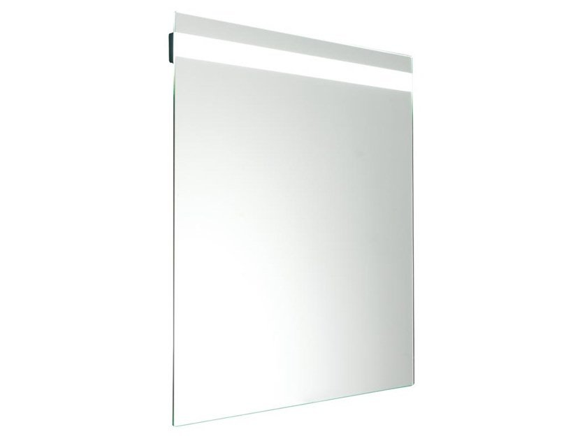 Tilting wall-mounted mirror with integrated lighting HUG | Tilting mirror by Ponte Giulio