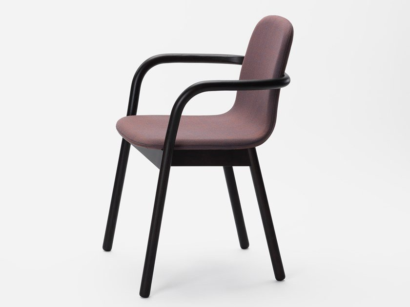 Fabric chair with armrests HUG by Zilio A&C