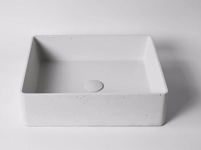 Countertop rectangular concrete washbasin HUI | Rectangular washbasin by Bentu Design