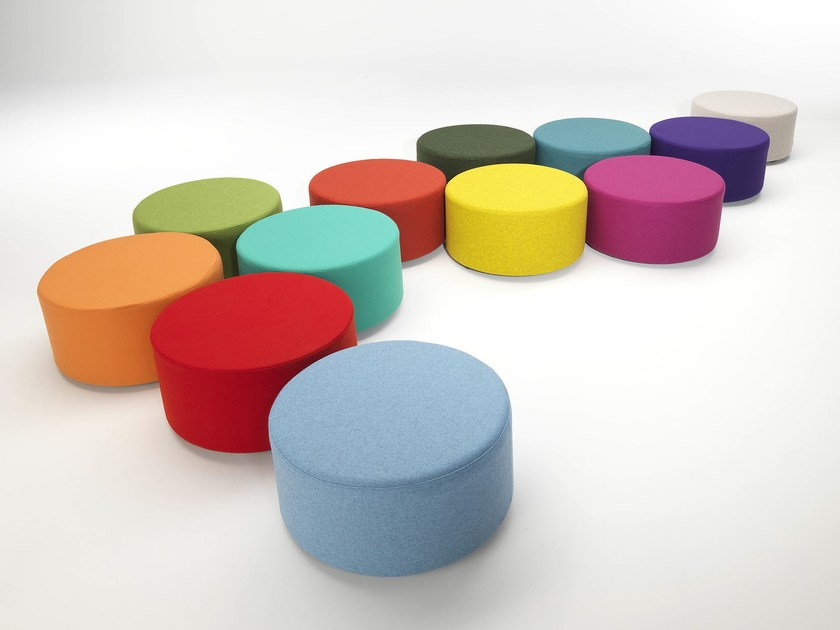 Upholstered pouf HULA HOOP by Paolo Castelli