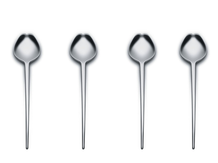 Stainless steel cutlery set HUMAN | Cutlery set by Alessi