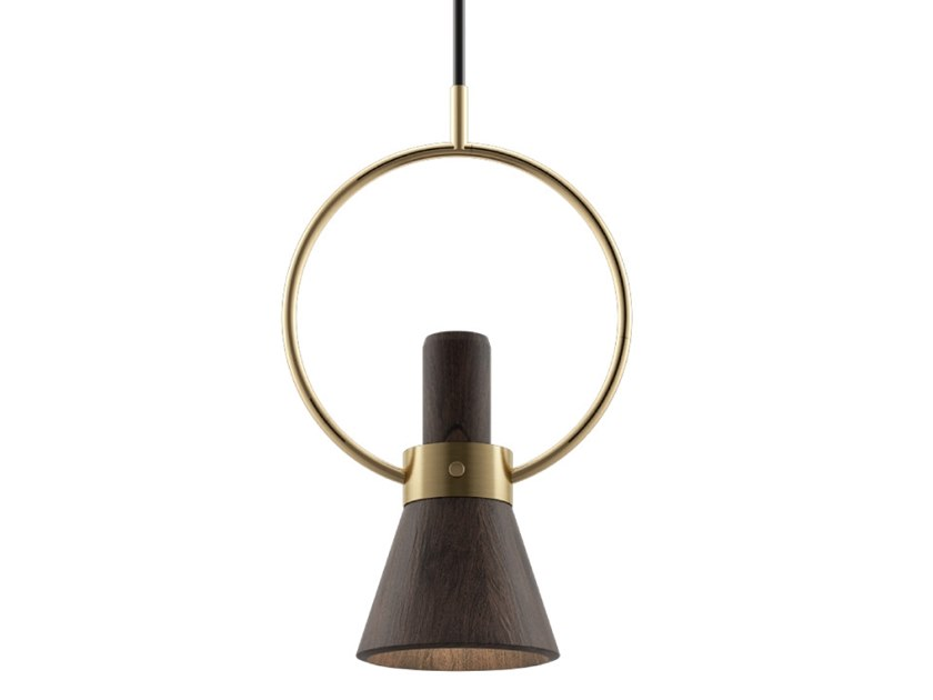 Handmade walnut pendant lamp HUMPHRY by Wood Tailors Club