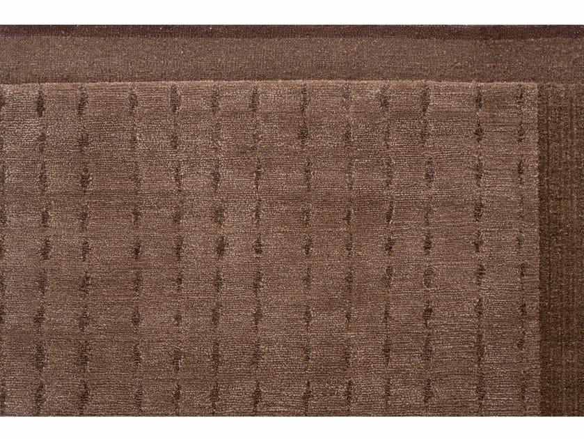 Handmade rectangular rug HUNUA BRONZO by Golran