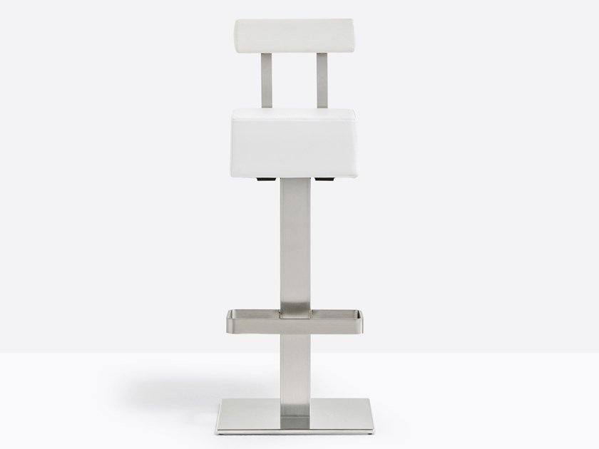 Sgabello alto con schienale con poggiapiedi HX 4448 by PEDRALI