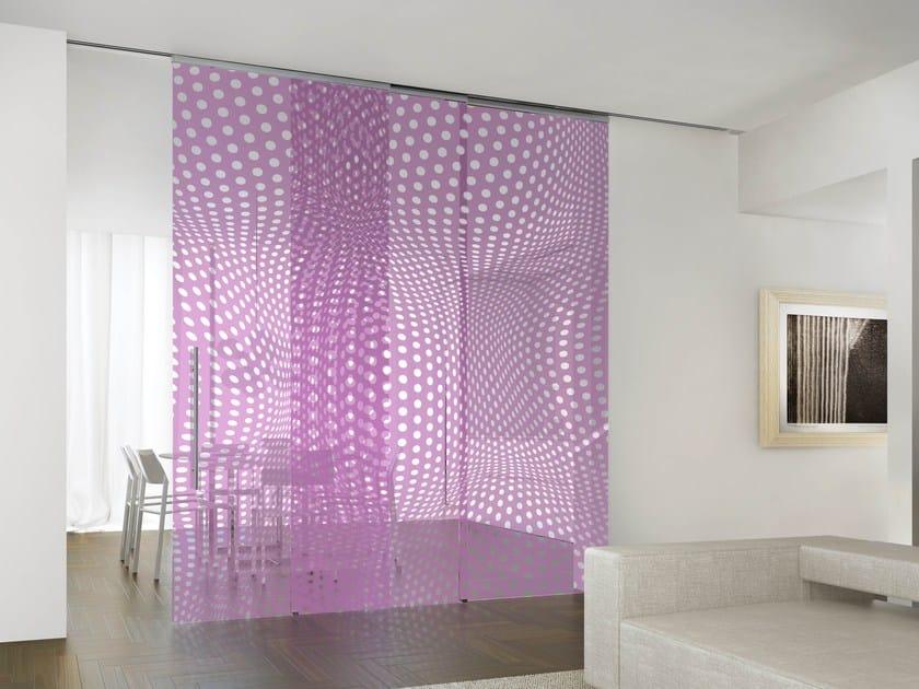 Crystal movable wall HYBRID DOTS GRAPE by Casali