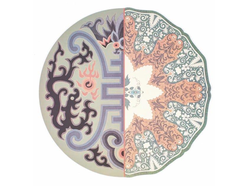 Mantel individual redondo de corcho HYBRID MAROZIA by Seletti