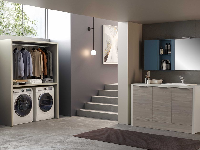 Sectional laundry room cabinet HYD03 | Laundry room cabinet by Mobiltesino