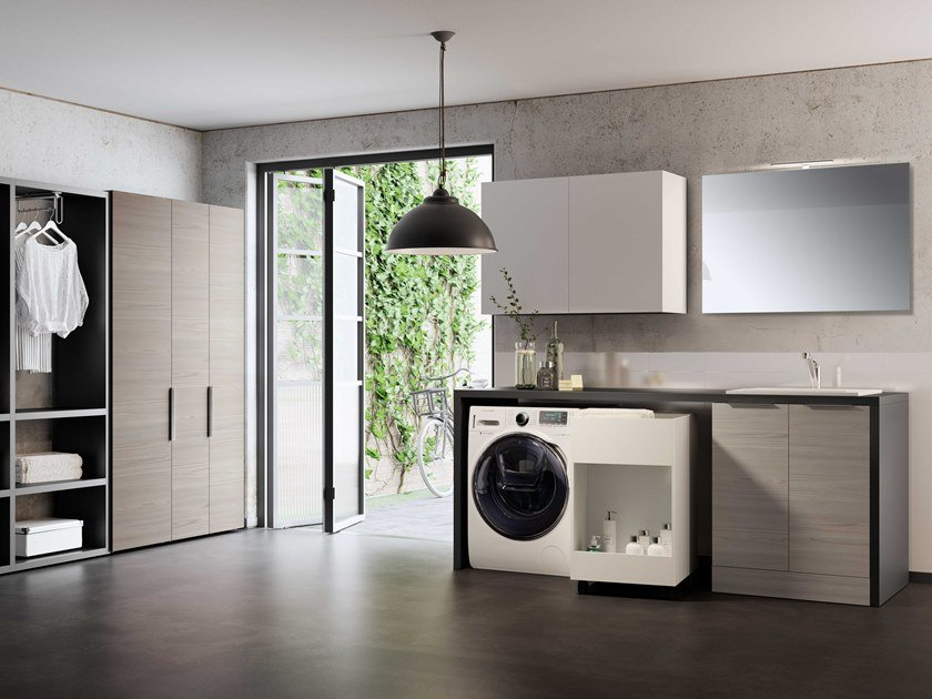 Sectional laundry room cabinet HYD06 | Laundry room cabinet by Mobiltesino