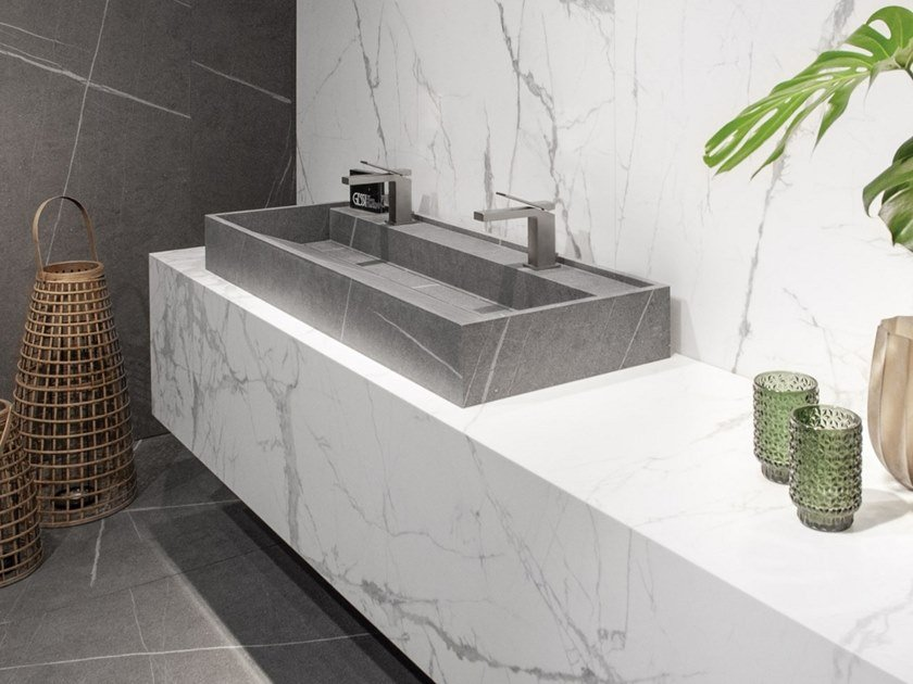 Porcelain washbasin HYDRA 117x43 by Inalco