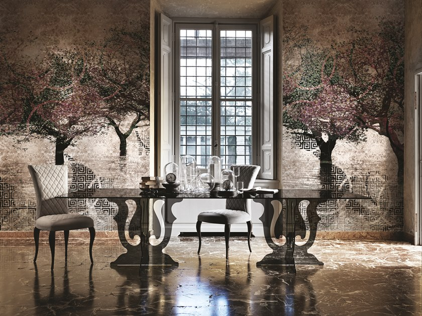 Landscape gold leaf wallpaper HYDRA by Inkiostro Bianco