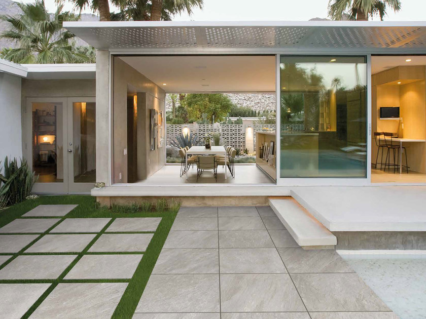 Porcelain stoneware outdoor floor tiles with stone effect HYDRA by RECORD - BAGATTINI