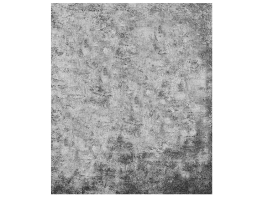 Handmade rectangular rug HYDRAZINE NAPOLI SILVER EDIT by HENZEL STUDIO