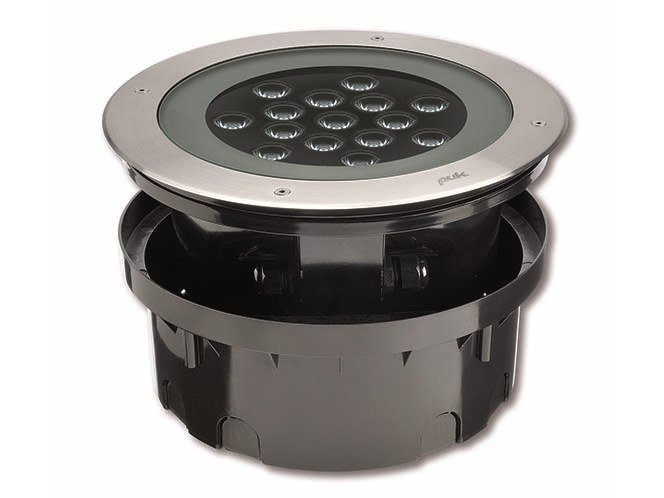 LED walkover light outdoor stainless steel steplight HYDROFLOOR MAXI COMPACT by PUK