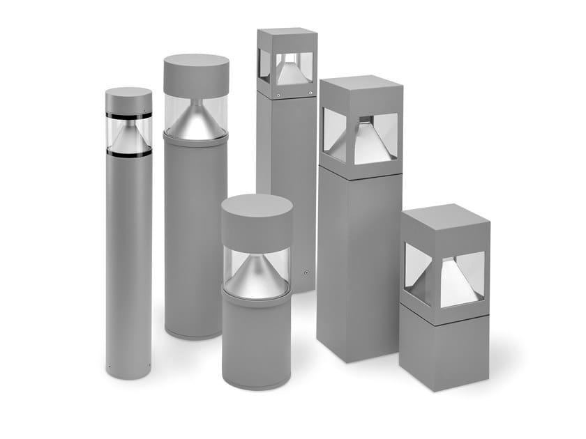 LED die cast aluminium bollard light HYDROWAY   Aluminium bollard light by PUK
