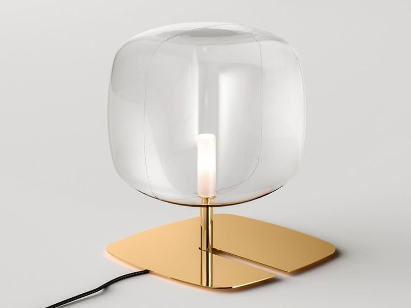 Lampada da tavolo a LED in Pyrex® con dimmer HYPERION   Lampada da tavolo by Tonelli Design