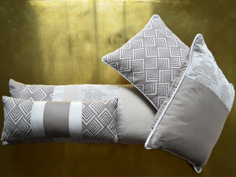 Jacquard fabric with graphic pattern HYPNOSE DECO by l'Opificio
