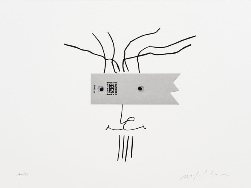 Serigrafia in carta I VOLTI, CINQUE by Danese Milano