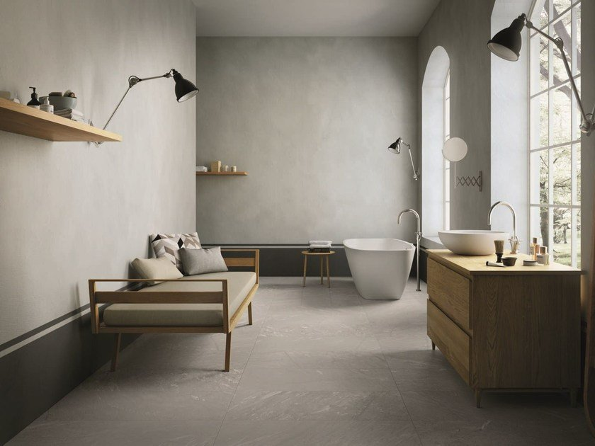 Porcelain stoneware wall/floor tiles with stone effect INNER STEAM by Ceramiche Caesar